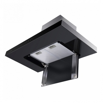 Кухонная вытяжка Maunfeld Norfolk 90 Inox Black Glass  Фото в интернет магазине MiriQ.RU